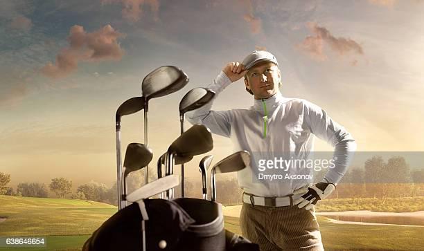 Golf: Golfer staying on a golf course