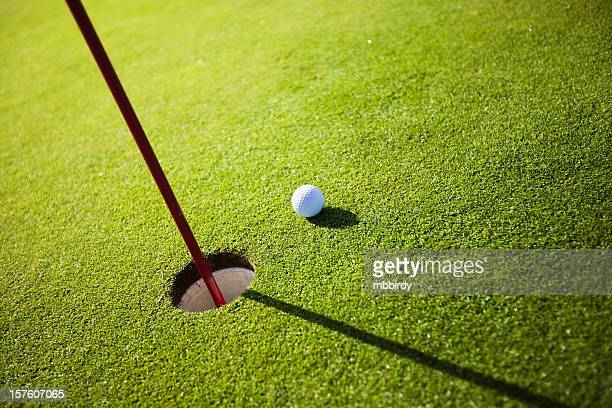 golf grass court with ball - golf background stock photos and pictures