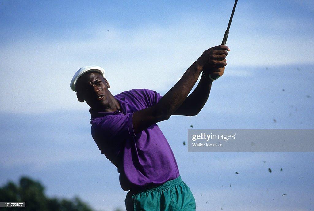 Chicago Bulls Michael Jordan, 1987 Canon Greater Hartford Open : News Photo