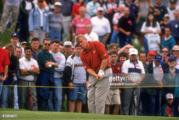 Golf Hartford Open John Daly in action during drive on Saturday at TPC River Highlands Cromwell CT 7/25/1997