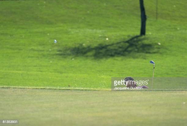 Golf: Honda Classic, Andrew Magee in action from rough during tournament at Weston Hills G&CC, Weston, FL 3/10/1994--3/13/1994