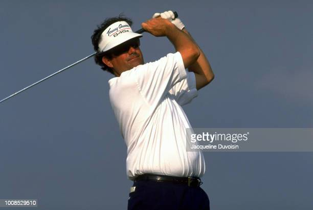 Bruce Lietzke in action, driving during Thursday play at Weston Hills GC. Fort Lauderdale, FL 3/10/1994 CREDIT: Jacqueline Duvoisin