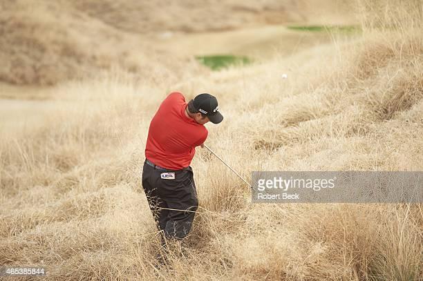 Humana Challange: Patrick Reed in action from the rough on Friday at La Quinta CC. La Quinta, CA 1/23/2015 CREDIT: Robert Beck