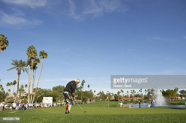 Humana Challange: Scenic view from rear of John Daly in action on Thursday at La Quinta CC. La Quinta, CA 1/22/2015 CREDIT: Robert Beck