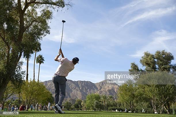 Humana Challange: Scenic view from rear of Matt Kuchar in action on Thursday at La Quinta CC. La Quinta, CA 1/22/2015 CREDIT: Robert Beck