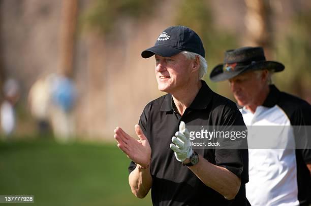 Humana Challenge: Former United States President Bill Clinton on Saturday during Round 3 at La Quinta CC. La Quinta, CA 1/21/2012 CREDIT: Robert Beck