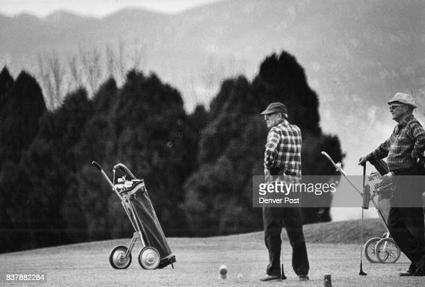 Golf is Also a winter Sport Thursday was a balmy springlike day in the Denver area wand ideal for playing golf as these men demonstrate at Willis...