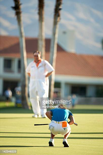 Kraft Nabisco Championship South Korea IK Kim upset after missing putt on No 18 hole during Sunday play at Mission Hills CC Rancho Mirage CA CREDIT...