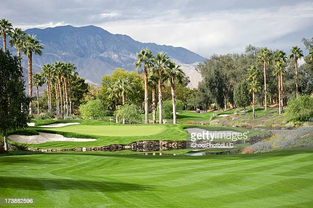 golf landscape - indian wells california stock pictures, royalty-free photos & images