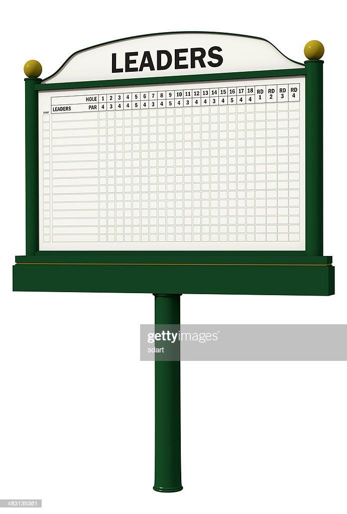 Golf Leader Board : Stock Photo