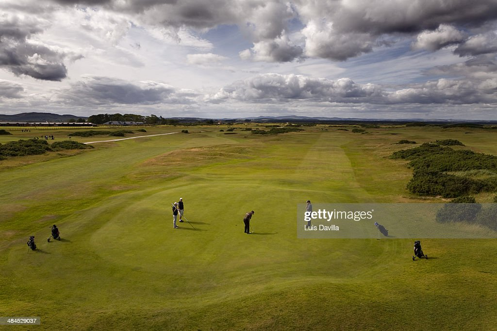 Golf Link Clubs House. St. Andrews. scotland : Stock Photo