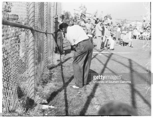 Golf Los Angeles Open 3 January 1958 Eric MontiShelley MayfieldDow FinsterwaldEd FurgolDick MayerGeorge BayerTom BoltBilly CasperJulius BorosLloyd...