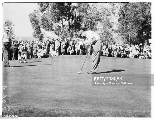 Golf Los Angeles Open 4 January 1958 Stan DudasMike KrakDoug FordEd FurgolDick MayerGeorge BayerDutch HarrisonLloyd MangrumChick HarbertBob...