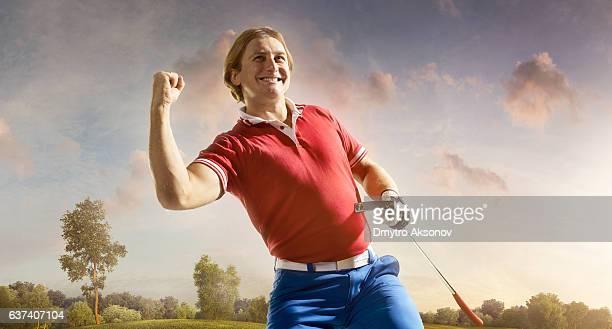 Golf: Man winning a golf championship