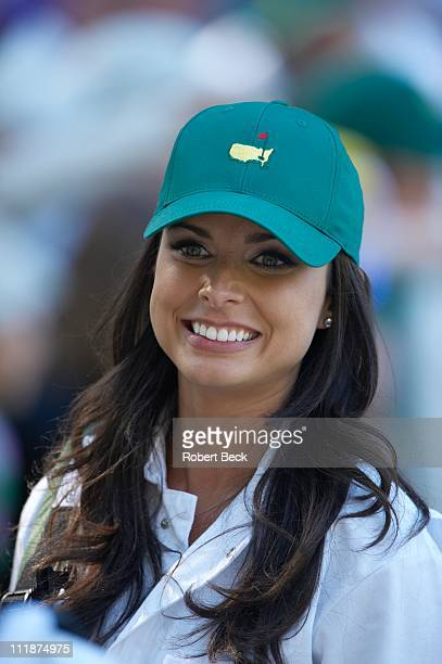 Masters Preview Closeup of Amber Watney wife of Nick Watney during Par 3 Contest on Wednesday at Augusta National Augusta GA 4/6/2011CREDIT Robert...