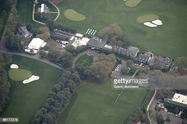 Masters Preview Scenic aerial view of Magnolia Lane and clubhouse at Augusta National Augusta GA 3/20/2010 CREDIT Sports Illustrated