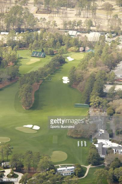 Masters Preview Scenic aerial view of No 1 hole and No 9 green at Augusta National Augusta GA 3/20/2010 CREDIT Sports Illustrated