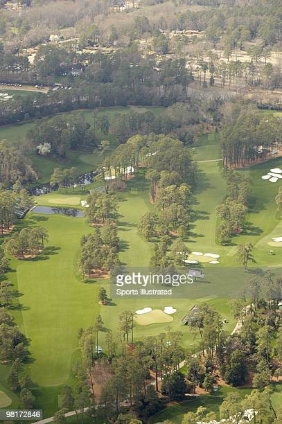 Masters Preview Scenic aerial view of No 14 hole No 15 hole and No 17 hole at Augusta National Augusta GA 3/20/2010 CREDIT Sports Illustrated