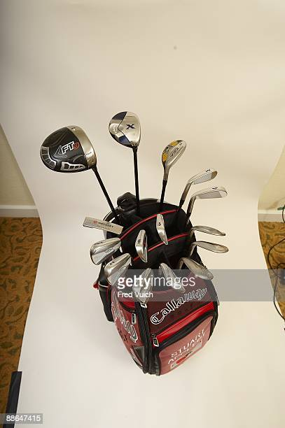 Masters Preview: Studio shot of Callaway bag and clubs of Stuart Appleby at Doral Resort & Spa. Equipment. Doral, FL 3/10/2009 CREDIT: Fred Vuich