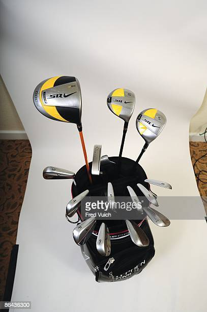 Masters Preview: Studio shot of Nike bag and clubs of Stephen Ames at Doral Resort & Spa. Equipment. Doral, FL 3/11/2009 CREDIT: Fred Vuich