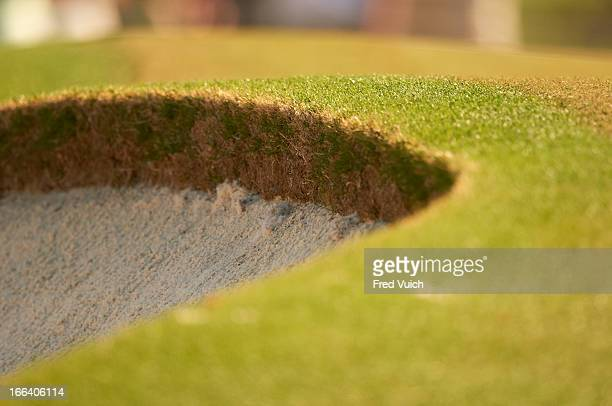 Masters Preview View of bunker detail during Tuesday practice at Augusta National Sand trap Augusta GA CREDIT Fred Vuich