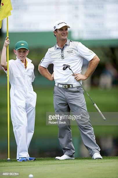 Masters Preview View of Kevin Streelman with caddie Ethan Couch during Par 3 Tournament on Wednesday at Augusta National Couch has inoperable brain...