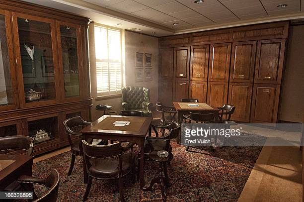 Masters Preview View of The Champions Locker Room at clubhouse of Augusta National Augusta GA CREDIT Fred Vuich