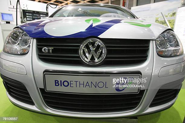 Golf model that uses ethanol is on display at the 'Gruene Woche' international food and agriculture fair in Berlin 18 January 2008 The fair one of...