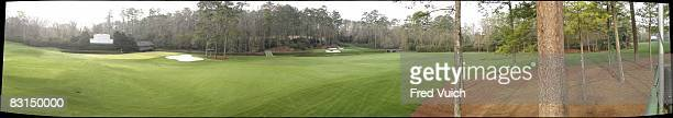 Panoramic and scenic view of Amen Corner taken with GigaPan camera at Augusta National Augusta GA 3/14/2008 CREDIT Fred Vuich