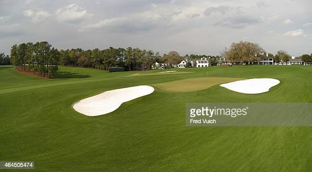 Panoramic and scenic view of No 9 hole and No 18 hole taken with GigaPan camera at Augusta National Augusta GA CREDIT Fred Vuich