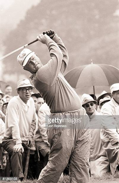 Golf Pebble Beach Amateur Tournament Jack Nicklaus in action during Saturday play Pebble Beach CA 9/16/1961