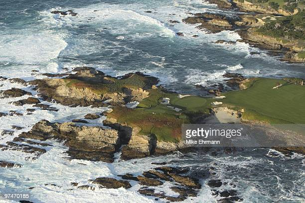 Pebble Beach National Pro Am Scenic aerial view of Cypress Point GC from MetLife Blimp View of the Pacific Ocean Pebble Beach CA 2/14/2010 CREDIT...