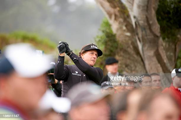 Pebble Beach National ProAm Phil Mickelson in action during Saturday play at Spyglass Hill GC Pebble Beach CA CREDIT Robert Beck