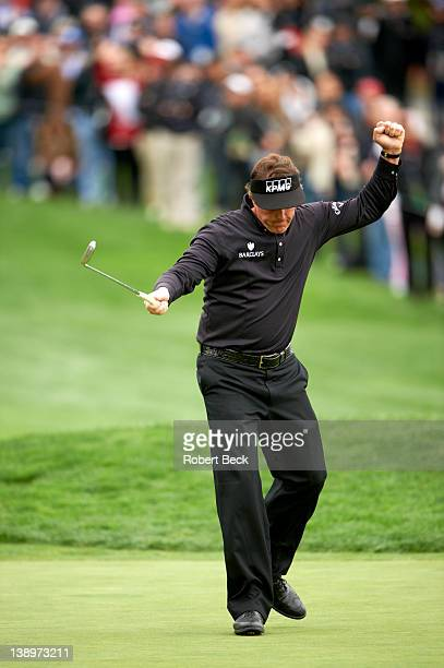 Pebble Beach National ProAm Phil Mickelson victorious during Sunday play at Pebble Beach Golf Links Pebble Beach CA CREDIT Robert Beck