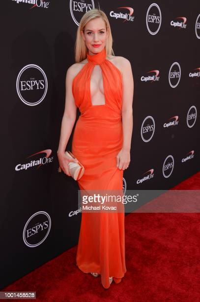 Golf personality Paige Spiranac attends the 2018 ESPY Awards Red Carpet Show Live Celebrates With Moet Chandon at Microsoft Theater on July 18 2018...