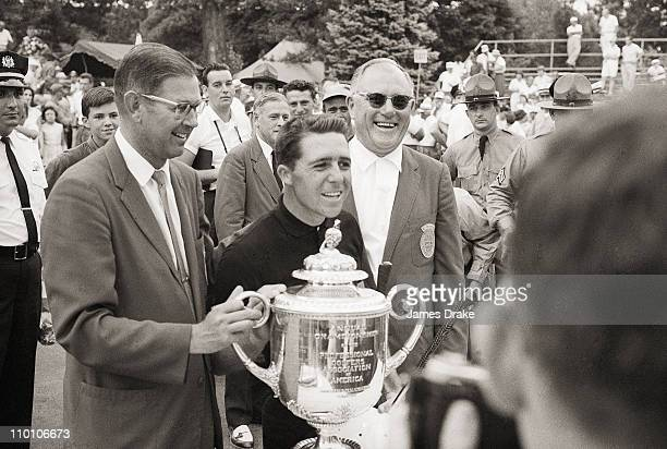 Championship: Gary Player victorious with Rodman Wanamaker Trophy after winning tournament on Sunday at Aronimink GC.Newtown Square, PA...