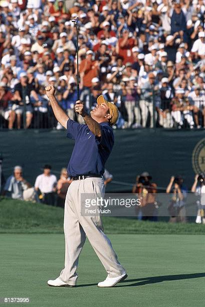 Golf: PGA Championship, Rich Beem victorious after Sunday play winning at Hazeltine National GC, Chaska, MN 8/18/2002