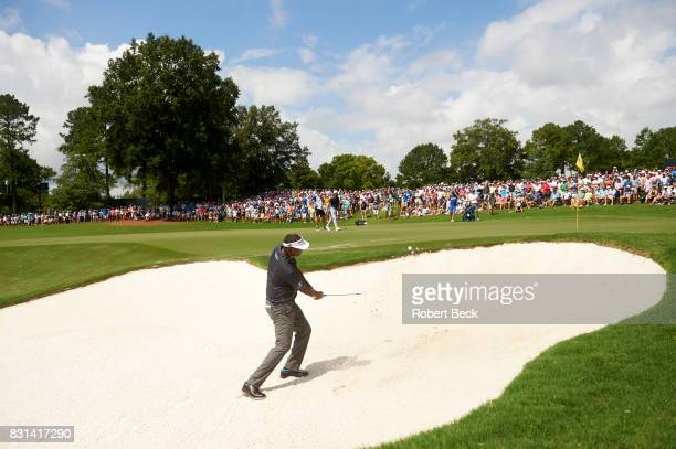 PGA Championship Vijay Singh in action out of sand trap during Saturday play at Quail Hollow Club Charlotte NC CREDIT Robert Beck