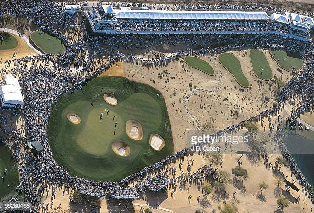 Phoenix Open Aerial scenic view of No 16 hole during Saturday play at Stadium Course of TPC Scottsdale Scottsdale AZ 1/30/1999 CREDIT JD Cuban