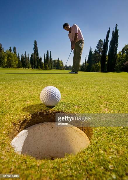 golf - golfbaan green stockfoto's en -beelden