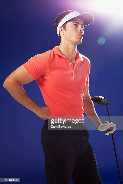 golf player holding club - sam's club stock pictures, royalty-free photos & images