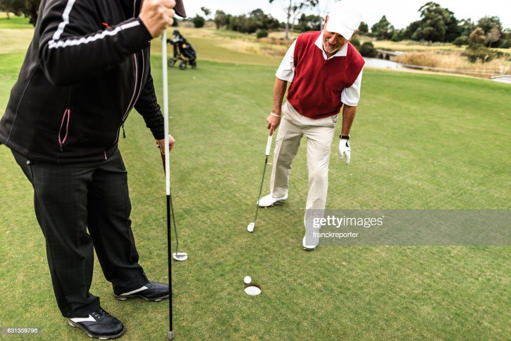 golf player hope to make it : Stock Photo