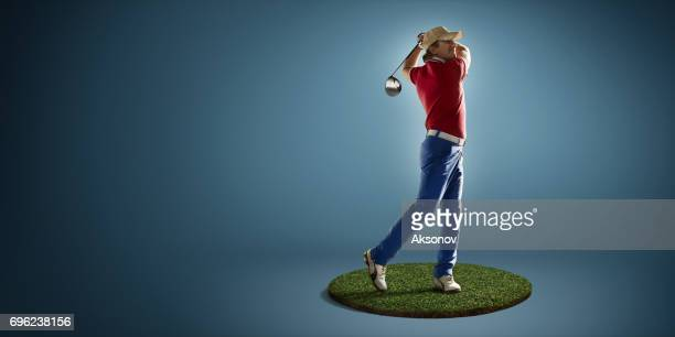 Golf player in action