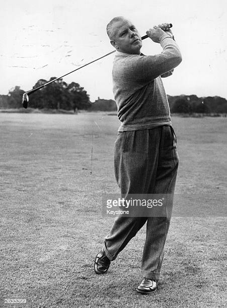 Golf player Percy Allis, a regular Ryder Cup contestant. He is the father of golfer Peter Alliss. Original Publication: People Disc - HG0163