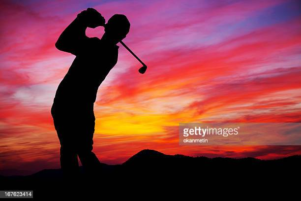 golf player - golf background stock photos and pictures