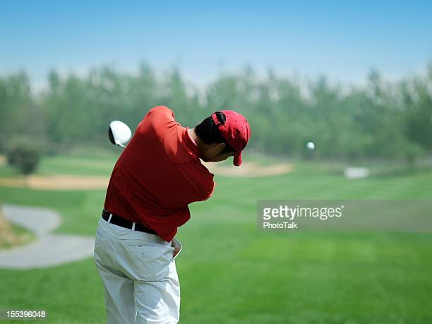 Golf Player Powerful Teeing Off - XLarge
