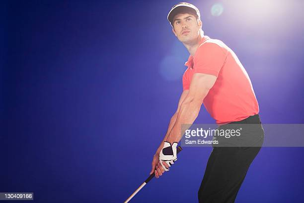 golf player ready to swing club - sam's club stock pictures, royalty-free photos & images