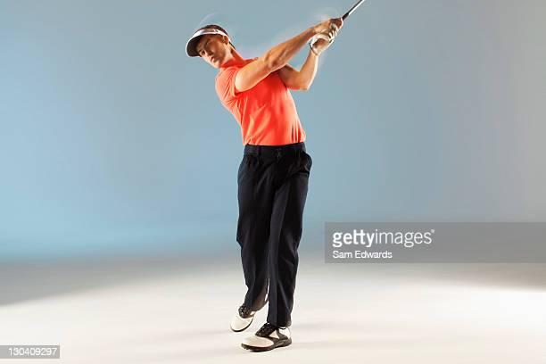 ゴルフ選手スインギングクラブ