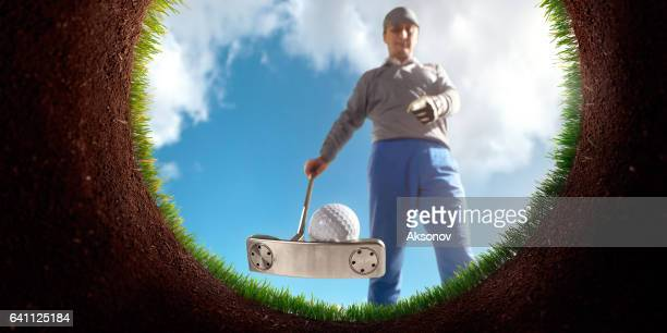 Golf: Point of view from inside the hole