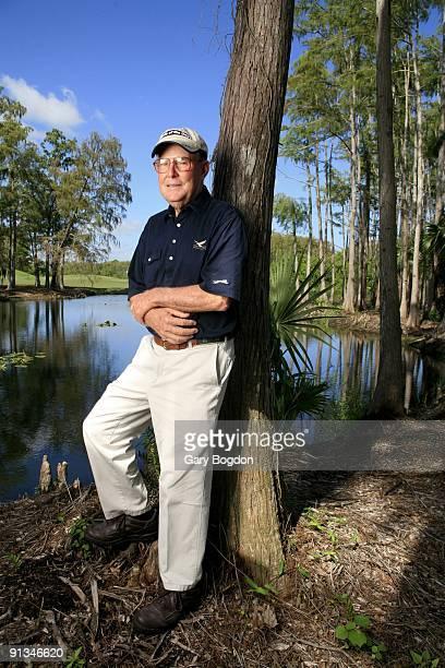 Portrait of professional golf course architect Pete Dye at Dye Preserve GC Jupiter FL 12/3/2007 CREDIT Gary Bogdon